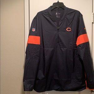 Nike Chicago Bears NFL OnField Quarter Zip Jacket